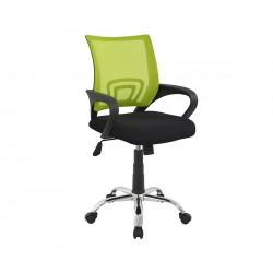 Детски стол за бюро Bristone HM1058.03 - Черен/Електриково зелен с подлакътници