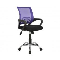 Детски стол за бюро Bristone HM1058.04 - Черен/Лилав с подлакътници
