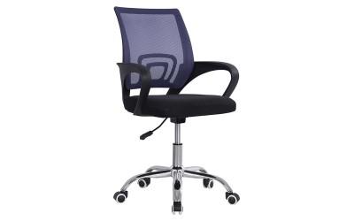 Детски стол за бюро с подлакътници Bristone HM1058.14 - Черен/ Лилав