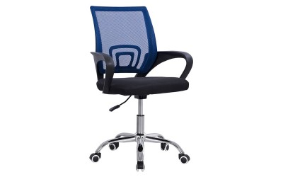 Детски стол за бюро с подлакътници Bristone HM1058.16 - Черен/ Син