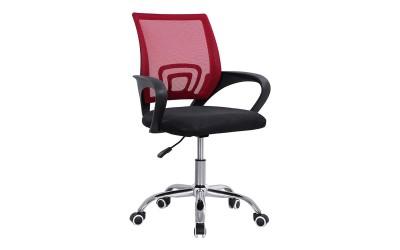 Детски стол за бюро с подлакътници Bristone HM1058.17 - Черен/ Червен