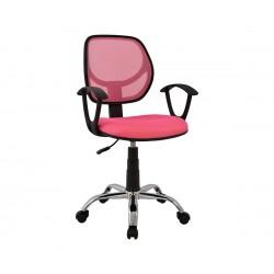 Детски стол за бюро HM1082.05 - Розов с подлакътници