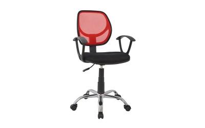 Детски стол за бюро HM1082.07 - Черен/Червен с подлакътници