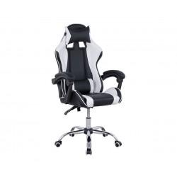 Геймърски стол с подлакътници HM1145.04 - Черно/ Бяло