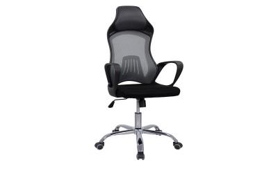 Офис стол с подлакътници HM1152.10 - Черен/ Сив
