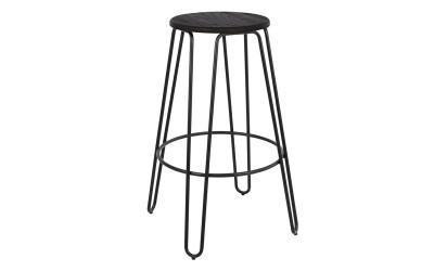 Бар стол Kelly HM0089.22 - Черен