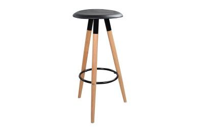 Бар стол Tonia HM0116.02 - Черен