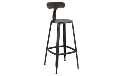 Метален бар стол HM0181.04 - Ръжда