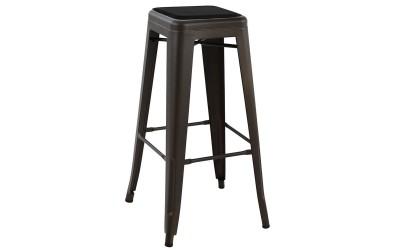 Метален бар стол Melita HM8060.04 - Ръжда