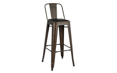 Метален бар стол Melita HM8061.04 - Ръжда