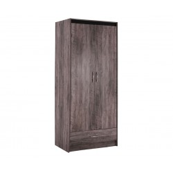 Двукрилен гардероб Jacintha HM2276 - Пепеляво сив