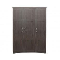 Трикрилен гардероб HM320.01 - Зебрано