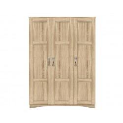 Трикрилен гардероб HM320.02 - Сонома