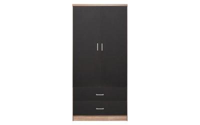 Двукрилен гардероб HM338.04 - Сиво/Сонома