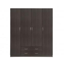 Четирикрилен гардероб HM353.01 - Зебрано