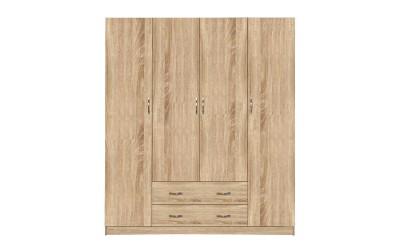 Четирикрилен гардероб HM353.02 - Сонома