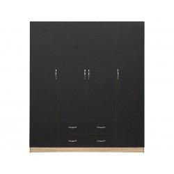 Четирикрилен гардероб HM353.04 - Сиво/Сонома