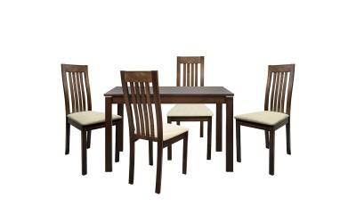 Комплект разтегателна маса с четири стола HM10049 - Орех