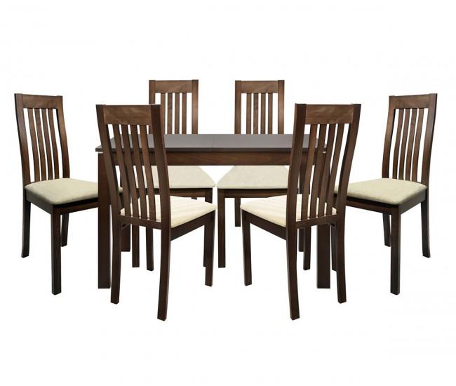 Комплект разтегателна маса с шест стола