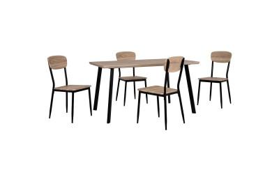 Комплект трапезна маса с четири стола HM10345 - Сонома/Черно