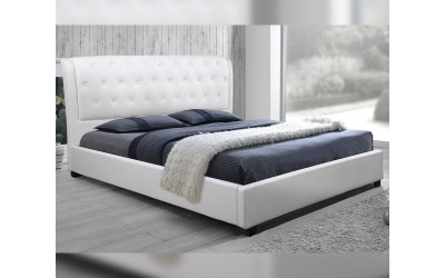 Тапицирано легло Odalys HM549.01 - 150/200 см. Бяло