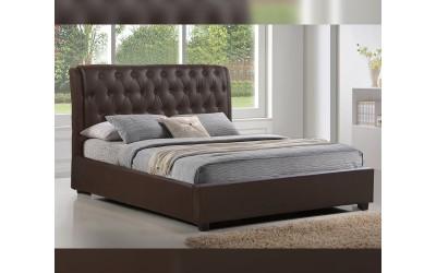 Тапицирано легло Odalys HM549.02 - 150/200 см. Кафяво