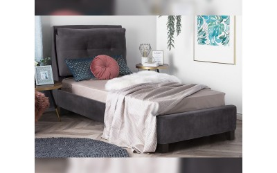 Тапицирано легло Riley HM561.01 - 90/200 Сиво кадифе