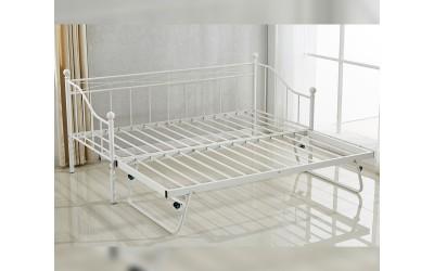 Метално легло-кушетка HM570.02 с допълнително легло Бяло