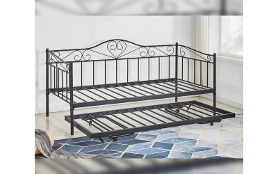Метално легло-кушетка HM571.01 с допълнително легло Черно