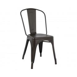 Метален стол Melita HM0018.04 - Ръждив