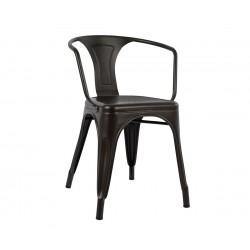 Метален стол с подлакътник Melita HM0019.04 - Ръждив