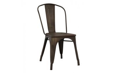 Метален стол Melita HM0604.04 - Ръждив цвят