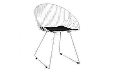 Комплект от 4 бр. метални столове Curve HM5466.02 - Бял