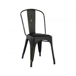 Метален стол Melita HM8062.40 - Черен с патина ефект