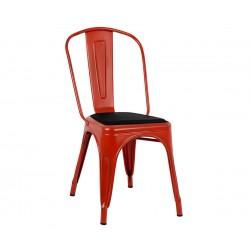 Метален стол Melita HM8062.77 - Червен с патина ефект
