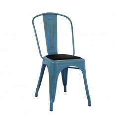 Метален стол Melita HM8062.88 - Син с патина ефект