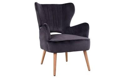 Кресло Mylie HM8394.01 - Сиво кадифе