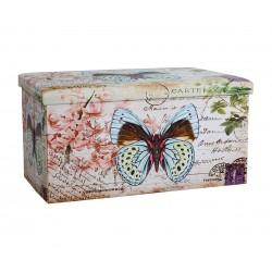 Продълговата табуретка с ракла Butterfly HM259
