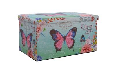 Продълговата табуретка с ракла Butterfly HM8132