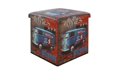 Дървена табуретка с ракла Movies HM8159