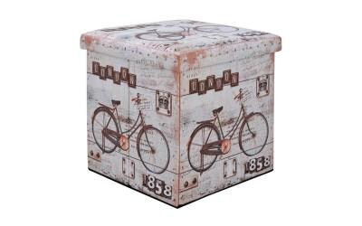 Дървена табуретка с ракла Bike HM8161