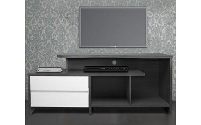 ТВ шкаф HM2212.02 - Бяло/Зебрано