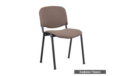 Посетителски стол Carmen 1130 Lux - Кафяво/ Черен