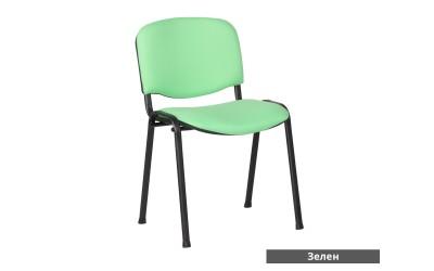 Посетителски стол Carmen 1130 Lux - Зелен