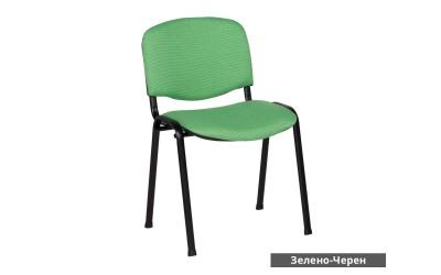 Посетителски стол Carmen 1130 Lux - Зелено/ Черен
