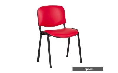 Посетителски стол Carmen 1131 Lux Еко кожа - Червен