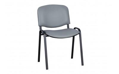 Посетителски офис стол Carmen 1131 Lux Еко кожа - Светло сив