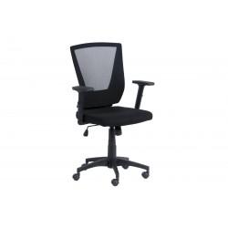 Работен офис стол Carmen 7039 с мрежа и подлакътници - Черен
