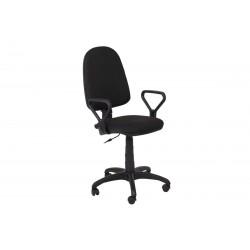Работен офис стол Prestige с подлакътници - Черен