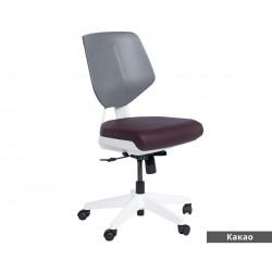 Работен офис стол Smart без подлакътници Еко кожа - Какао AS